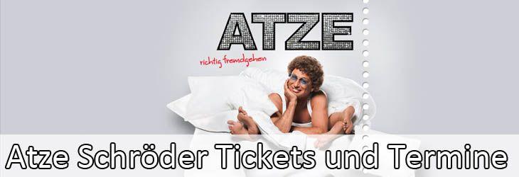 Tickets für Atze Schröder sind nicht nur bei seinen Fans überaus begehrt und dseine Tourneen somit stets schnell ausgebucht. Der deutsche Comedian tourt regelmäßig mit seinem aktuellem Comedy-Programm quer durch Deutschland und tritt auf den großen Bühnen Deutschlands auf um seine Zuschauer zum Lachen zu bringen. Die Tourdaten für Atze Schröders Au...