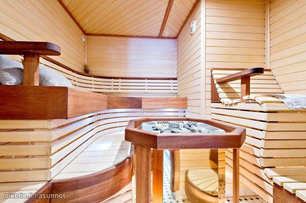 Really cool, floating sauna design