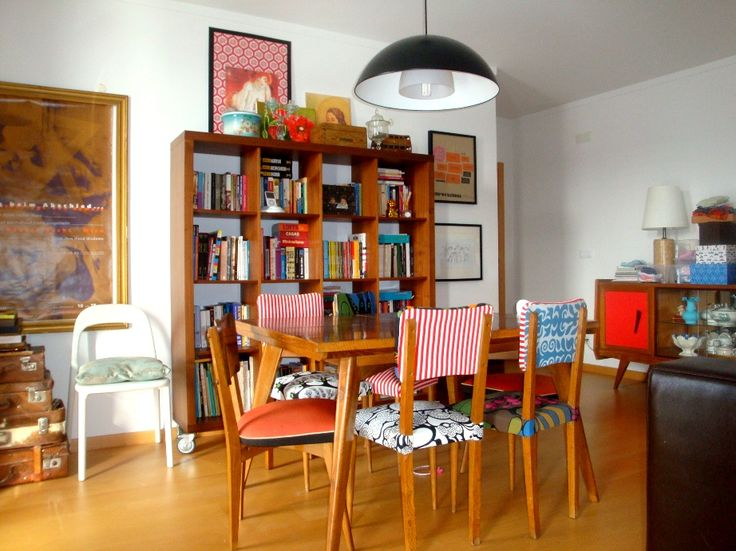 IKEA textiles on second-hand chairs