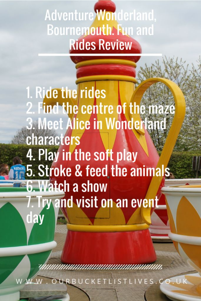 Adventure Wonderland, Bournemouth. Day out blog review. Family checklist. Days out UK