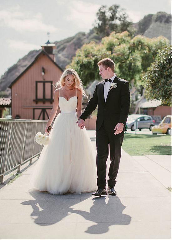 Rael Custom Made Spaghetti Strap Tulle Wedding Dress