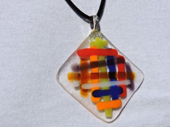 34 mejores imgenes de pendants for sale en pinterest envoltura de fused glass pendant multi color noddle glass by violetglass123 aloadofball Gallery
