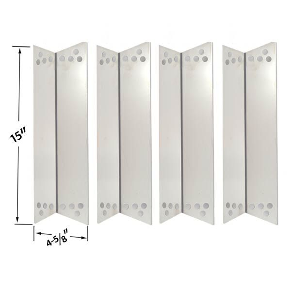 4 PACK STAINLESS STEEL HEAT PLATE REPLACEMENT FOR TERA GEAR 1010007A, CHARBROIL, KENMORE SEARS 122.16134110, NEXGRILL 720-0719BL GAS MODELS Fits Compatible Tera Gear Models : 1010007A Read More @http://www.grillpartszone.com/shopexd.asp?id=33622&sid=26874