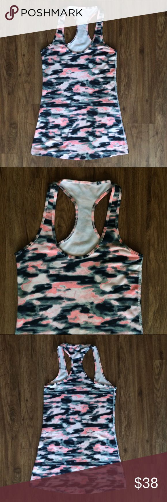 Lulu Cool Racerback Wamo Camo Lululemon Cool Racerback in Wamo Camo print. Size 4. Excellent condition, worn once. Great for yoga, running, going to the gym, just about anything! lululemon athletica Tops Tank Tops