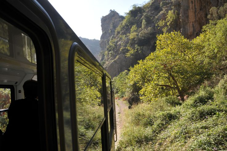 The Vouraikos Gorge: This gorge is famous for the little train that traverses it, climbing up the mountain from the seaside village of Diakopto to the mountain village of Kalavryta. The views from the train are splendid, as it zigzags between the mountains and rocks, next to the small but turbulent Vouraikos river.