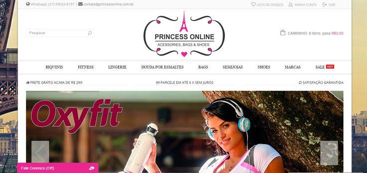 Loja Virtual desenvolvida para Princess Acessories Bags & Shoes, e-commerce especializado em moda praia, moda íntima, fitness e acessórios femininos.