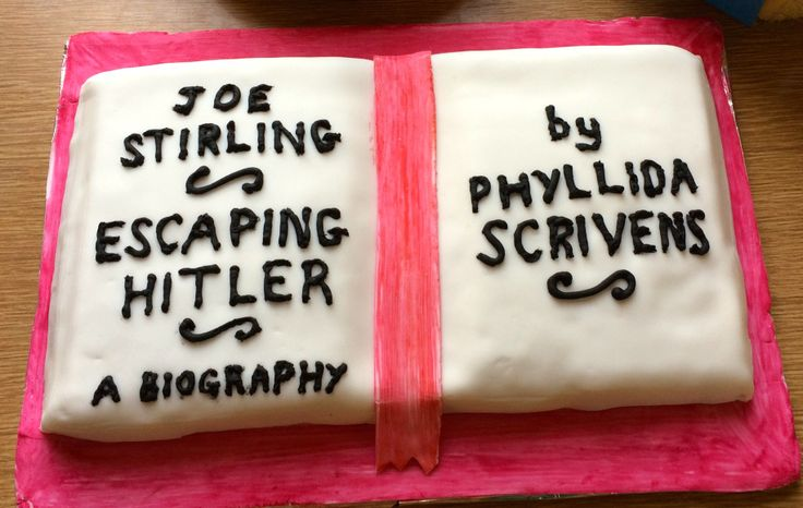 Fancy some cake? Well, we haven't got any BUT Phyllida Scrivens is celebrating her 6 month round up on her blog, and there's a picture of cake!   https://escapinghitler.com/2016/07/05/six-months-anniversary-of-publication-of-escaping-hitler/