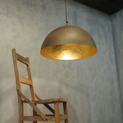 Galileo 60cm Iron Pendant Light with Gold Leaf Lining - by Il Fanale  http://www.lightworksonline.com.au/interior-lighting/pendants/galileo-gold-lining-600mm/product/377