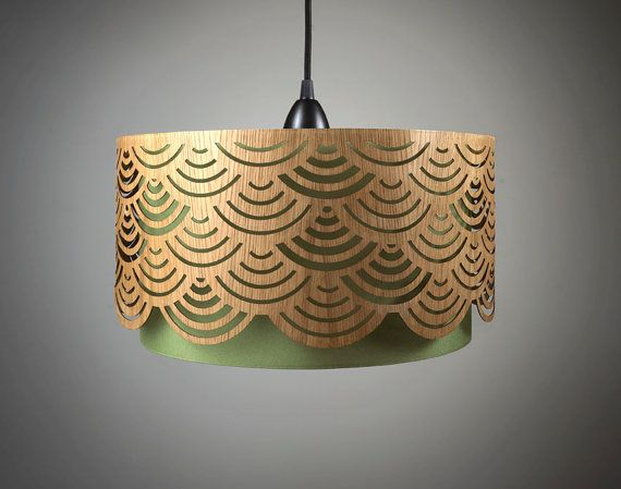 Madera de cortina de lámpara de araña hecha a mano