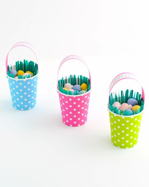 DIY Paper Crafts Cup Easter Basket