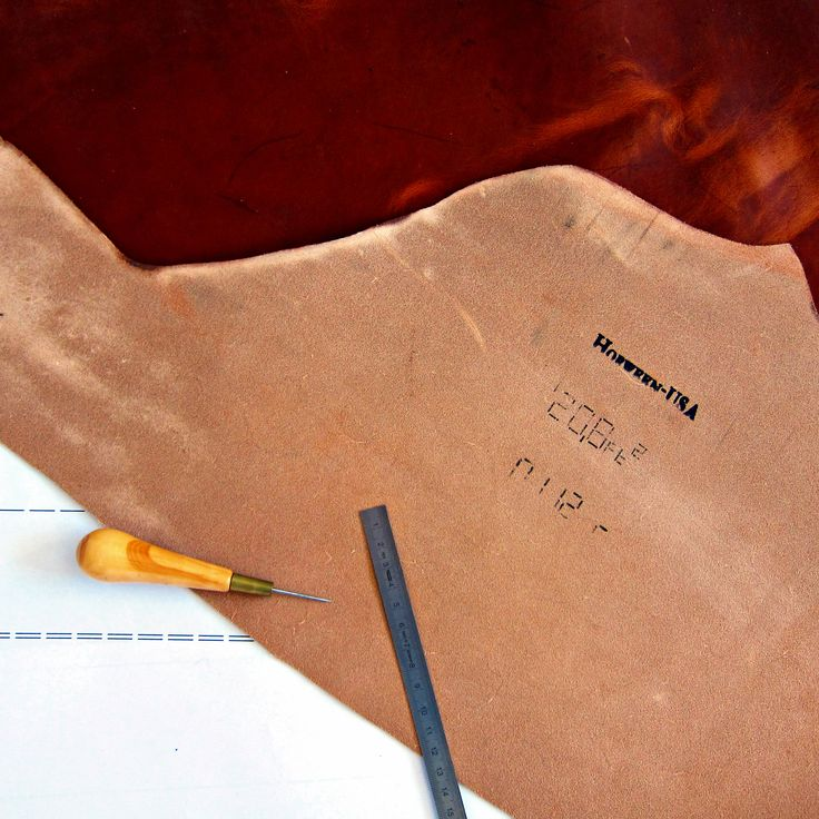 Working on some prototypes with Dublin Horween leather