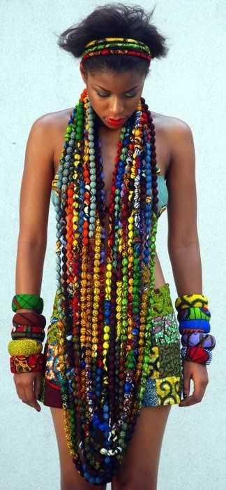 beautiful colors with the beads - fabric beads?