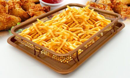 Gotham Steel Crisper Tray With Nonstick Copper Surface As Seen On Tv En 2019 Groupon
