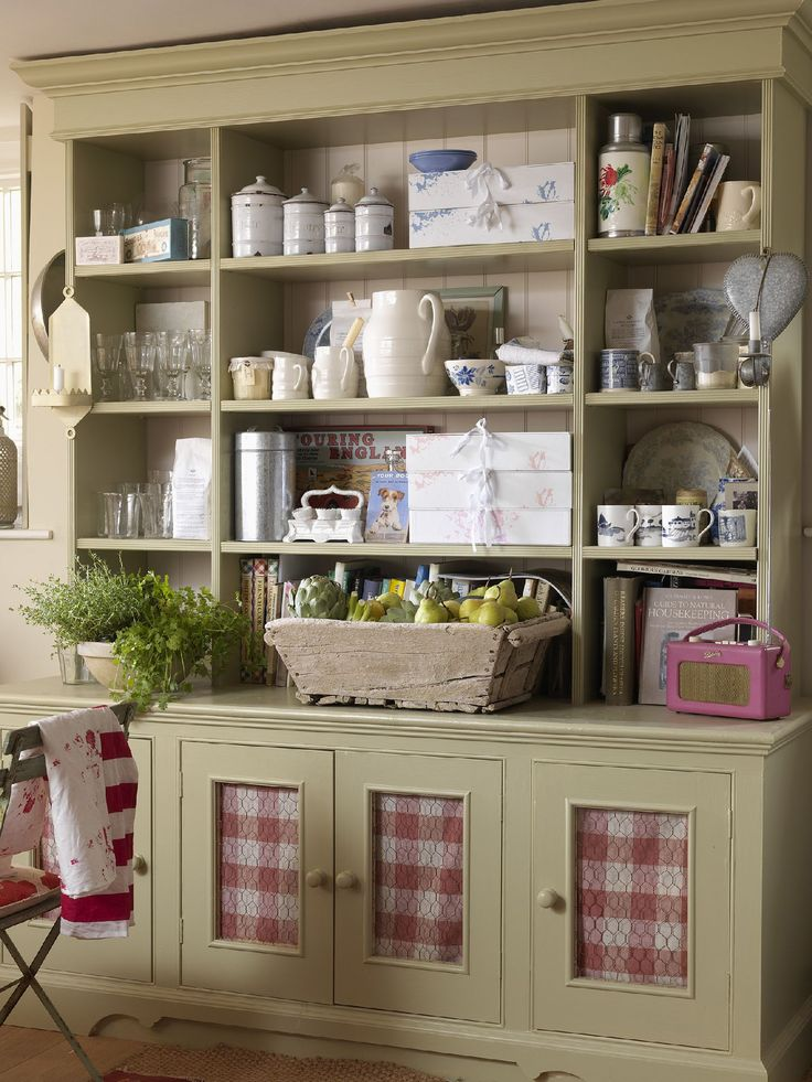 Country Hutch With Chicken Wire Covered Cutouts Kitchen Dresserkitchen Cabinetswall