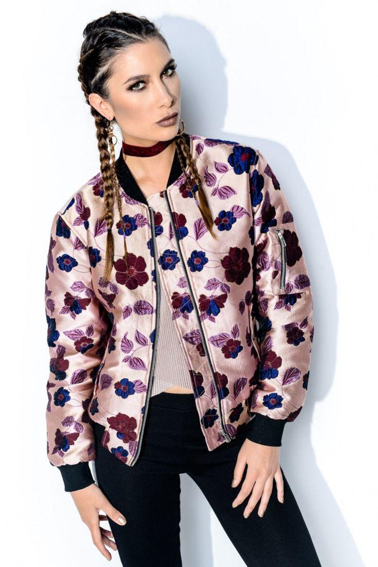 Bomberjacka - Pink Brocade