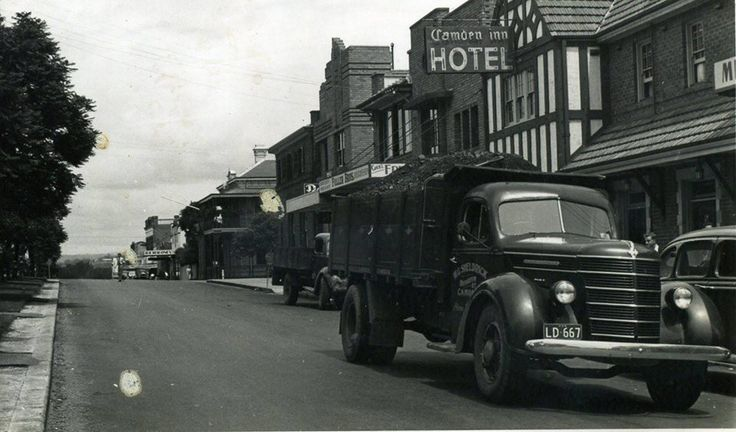 This image from the 1930s illustrates the thousands of coal trucks that made their way through the town. Coal was king in the Camden from the 1930s to the 1980s and employed hundreds of men from local families. (Camden Images)