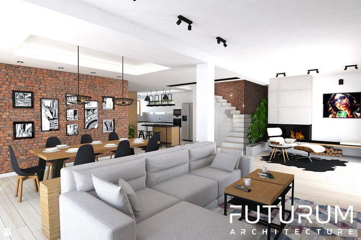 Salon styl Skandynawski - zdjęcie od FUTURUM ARCHITECTURE - Salon - Styl Skandynawski - FUTURUM ARCHITECTURE