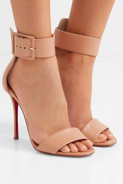 903bd41fd355 Christian Louboutin blade runana 100 leather sandals.  christianlouboutin   nudeshoes  sandals