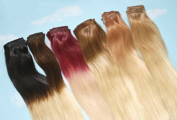 Handmade Bleached Tips Ombre Hair Extensions Human by Cloud9Jewels, $57.00