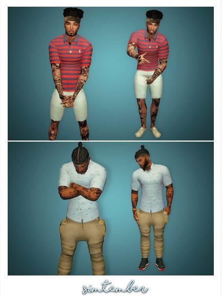 Simtember Men's Bape Button Down Shirt & Ralph Lauren Polo's | Clothes | by simtember via tumblr | Sims 4 | TS4 I Maxis Match | MM | CC