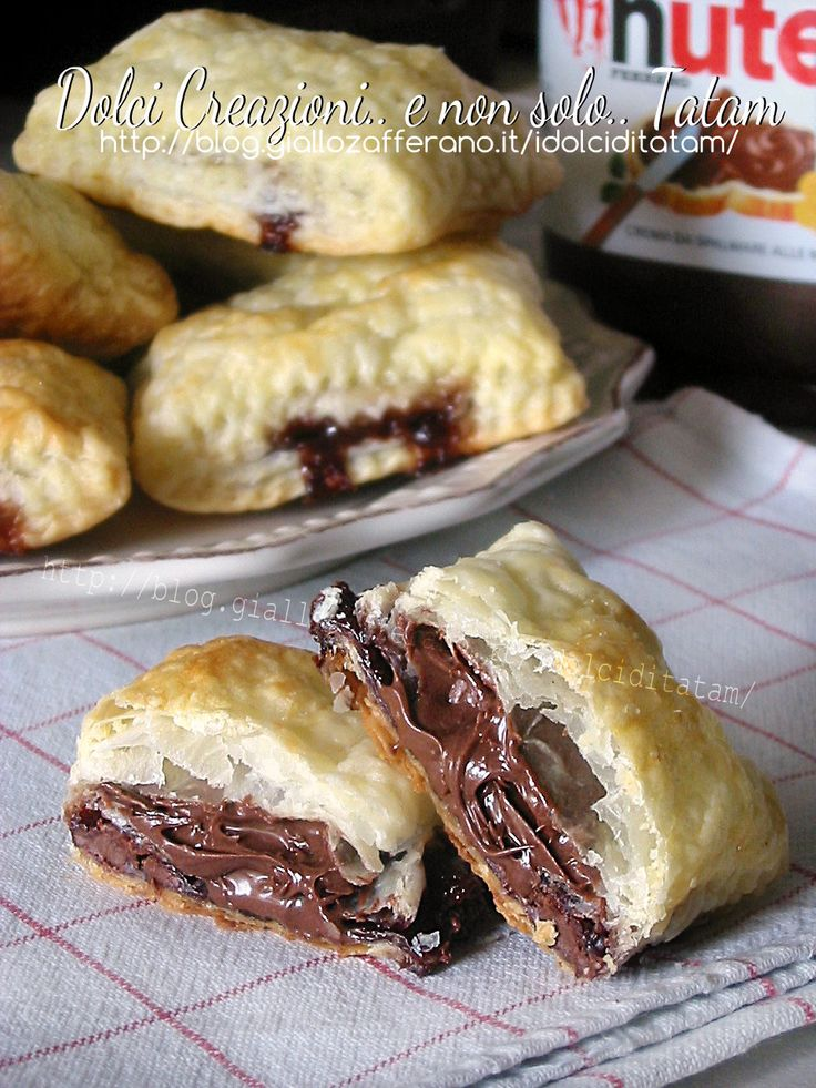 Saccottini ripieni di Nutella e marshmallow | ricetta dolce