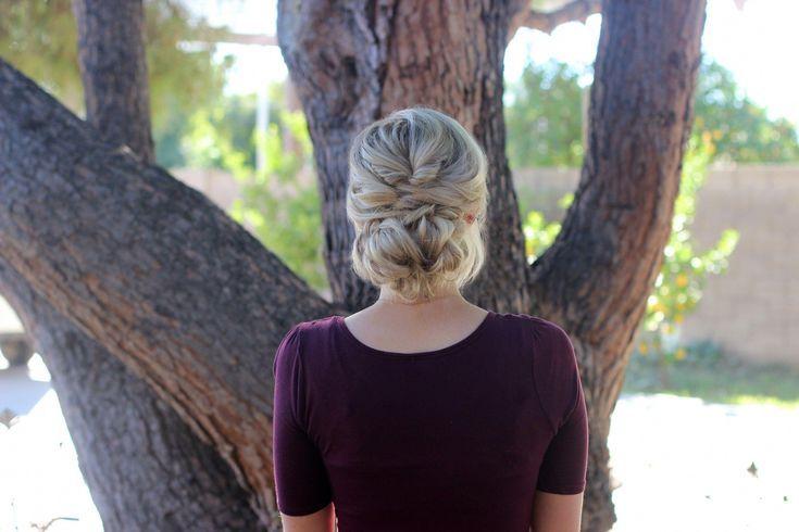 Coiffures de haywire élégantes # Coiffures #Messybun #short # Cheveux courts #Pigtail   – Large Hair