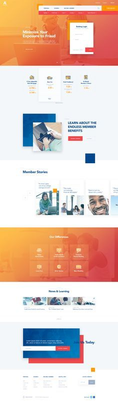 Credit Union – Ui design concept for homepage website, by Creative Studio.