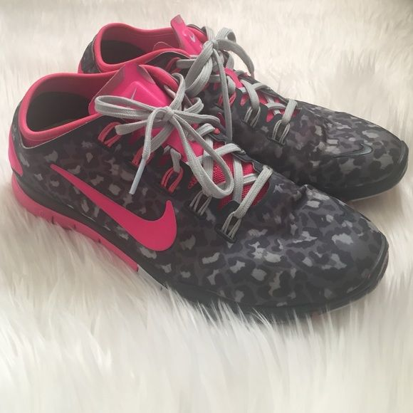 Nike Leopard Print Free Run Used condition. Only used as lounging shoes so they still have a lot of life left in em. A bit dirty since they've never been washed them. Box included. Nike Shoes Sneakers