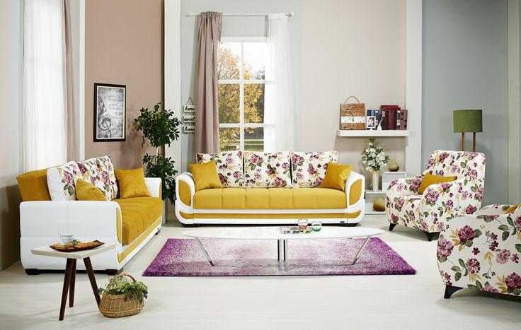 Doğanın enerjisi ve ışıltısı şimdi salonlarınızda.  Organik formlardan ilham alınarak tasarlanan bu salon takımı konforu ve şıklığı ile içinizi ısıtacak.