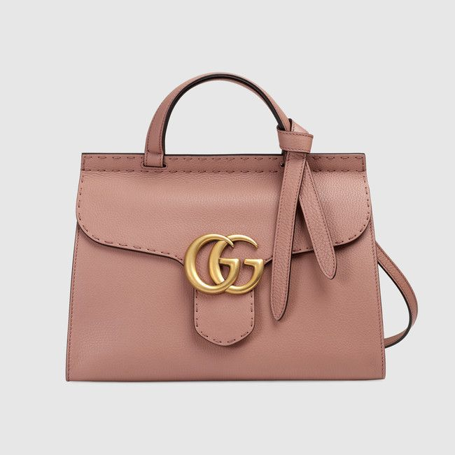 Gucci - Sac à main GG Marmont en cuir - rose antique