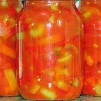 Лечо с томатной пастой