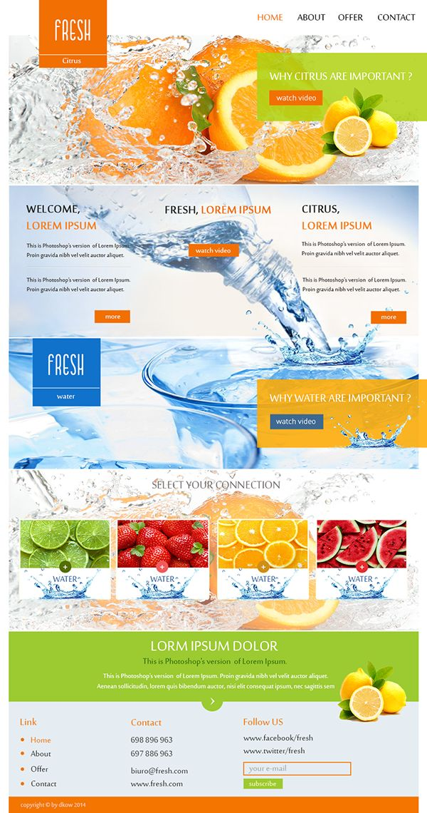 Fresh layout by Dorota Dorota, via Behance