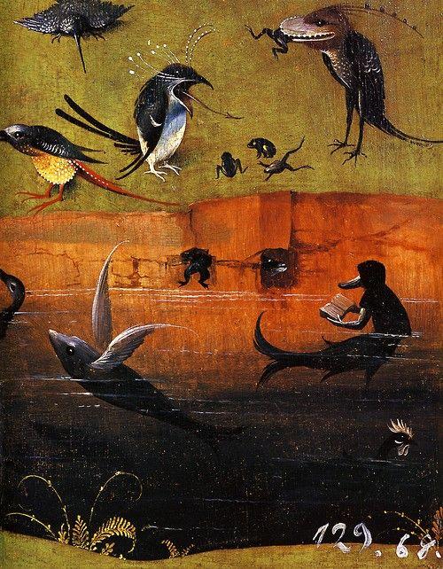 Jérôme Bosch - Le Jardin des délices - détail 1480-1490