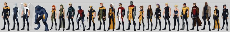 X-men Costume Redesigns *The art style is based on the work of mr Phil Bourassa for the Young Justice TV Series
