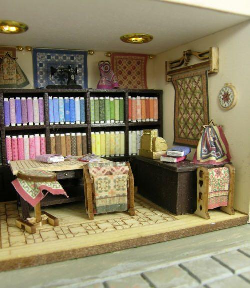 262 best Mini quilting shop images on Pinterest | Dollhouse ... : quilt shops online - Adamdwight.com