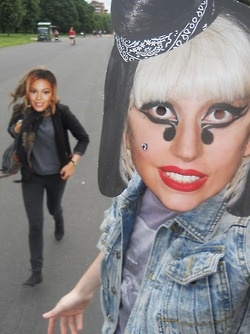 Lady Gaga and Beyonce hit the town  http://www.henrygorse.co.uk/  http://henrygorse.tumblr.com/