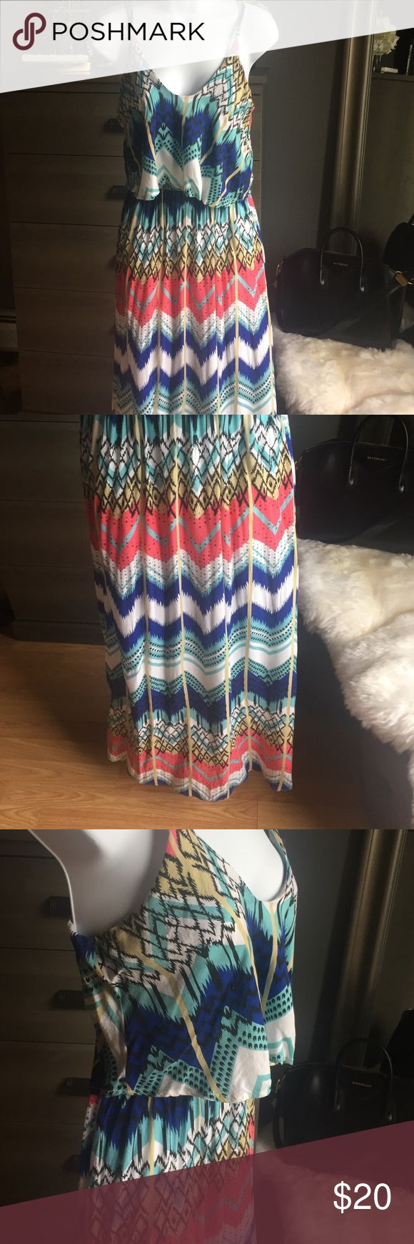 Aztec Maxi Dress Aztec print maxi dress. Dresses Maxi
