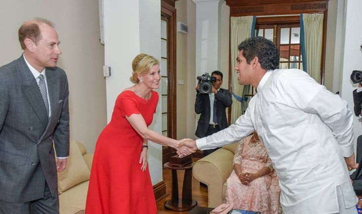 The Earl and Countess of Wessex met with Sri Lanka's President Maithripala Sirisena on their official tour of the country. Feb. 4, 2018