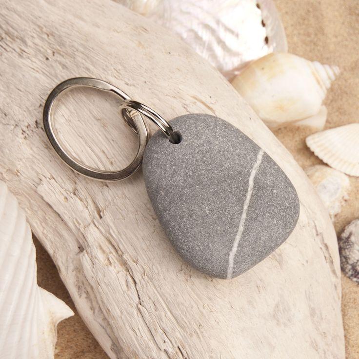 Beach Pebble Keyring