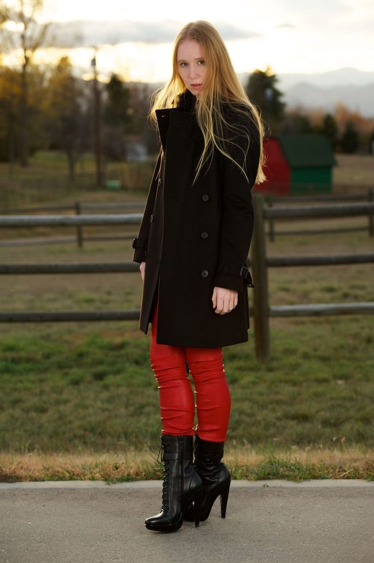 17 best images about Incredible Leather Leggings with Boots on Pinterest | Black wool Leather ...