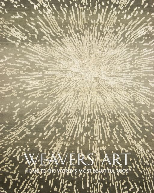 Nove in Platinum / Neutral Area Rug | Silk and Wool Rugs | Contemporary Rugs - Weavers Art