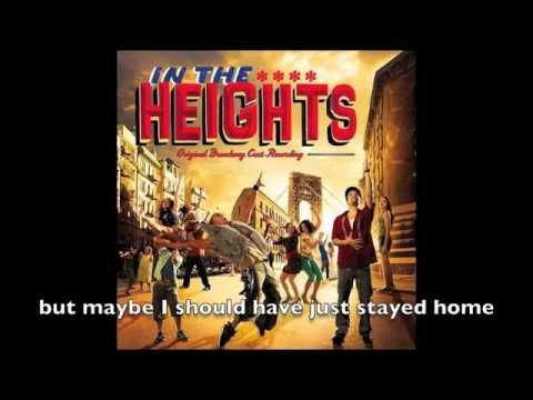 Breathe - In the Heights (with lyrics)