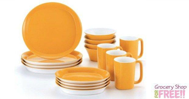 Rachael Ray 16 piece Stoneware Dinner Set Just $37.99 PLUS FREE Shipping!