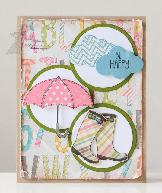 June SOTM Be Happy Card by Shelly Mercado  http://ow.ly/l2iTm #Cardmaking, #Stampofthemonth