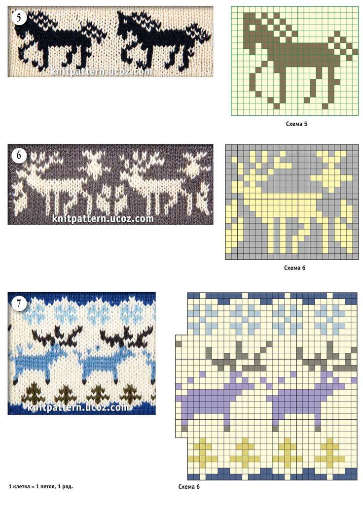 схемы картинок для вязания носков спицами