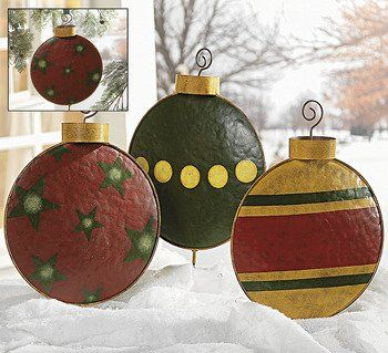 140 best images about crafting ideas for holidays on for Outdoor christmas tree ornaments