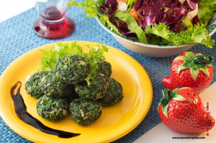 My Cooking Idea. Ricette vegetariane, ricette vegane.: Polpette vegetariane con tofu e spinaci