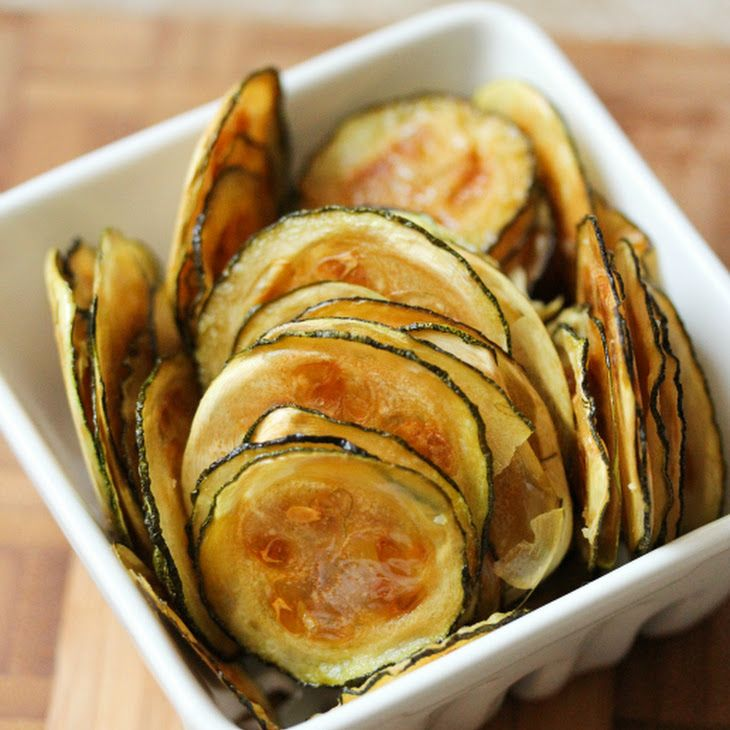 Zucchini Chips Recipe Lunch and Snacks with zucchini, olive oil, kosher salt