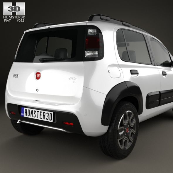 Fiat Uno Way 2015 With Images Fiat Uno Fiat 3d Model