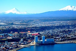 Puerto Montt is a port city and commune in southern Chile, located at the northern end of the Reloncaví Sound in the Llanquihue Province, Los Lagos Region.